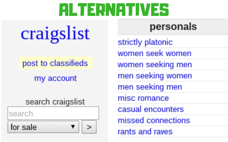 Alternatives to Craigslist Personals